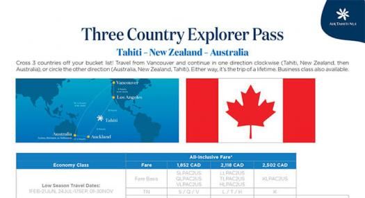 Air Tahiti Nui - Three Country Explorer Pass - CANADA - PDF Preview