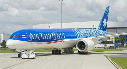 photo d'un boeing air tahiti nui tarmac
