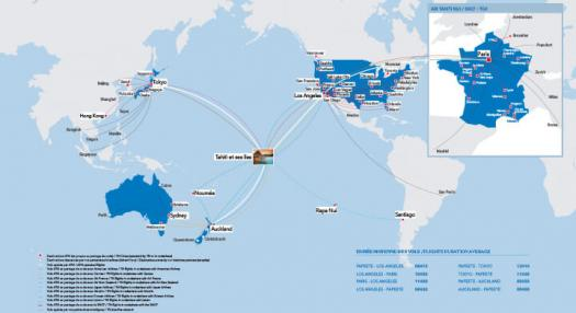 Air Tahiti Nui word map