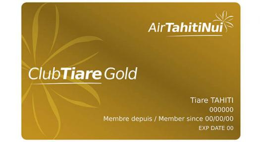 Gold Club Tiare frequent Flyer Card