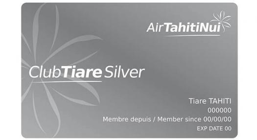 Silver Club Tiare frequent Flyer Card