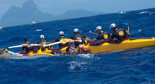 Photo of the Hawaiki Nui vaa racing