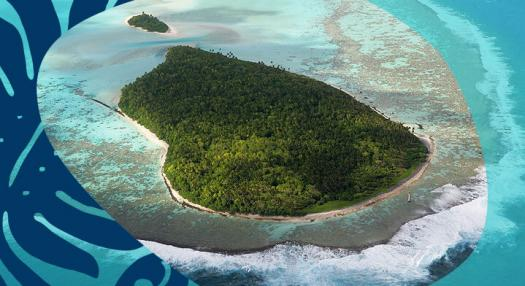desert island in french polynesia