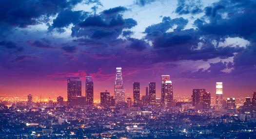 A view of Los Angeles California