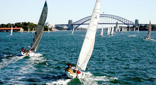 sail boats in the sydney bay