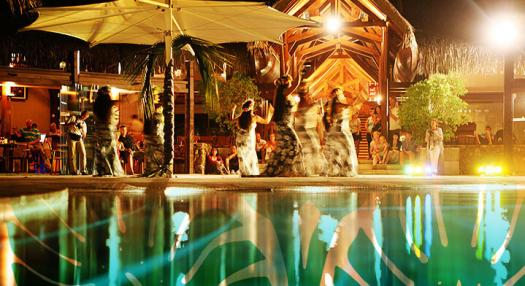people dancing in tahiti hotel