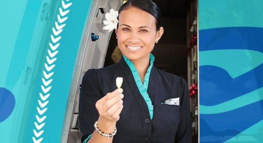 air tahiti nui flight attendant smiling