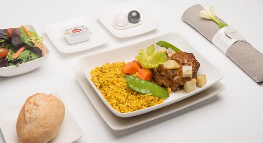 Sample of in-flight food on Tahiti route