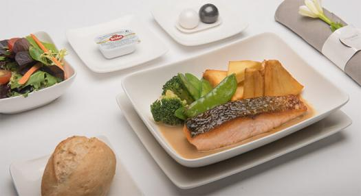Sample of inflight food - Paris route