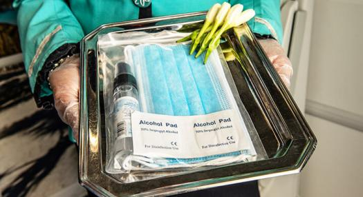 air tahiti nui onboard sanitary kit