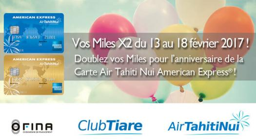 Publicity birthday Card American Express Air Tahiti Nui