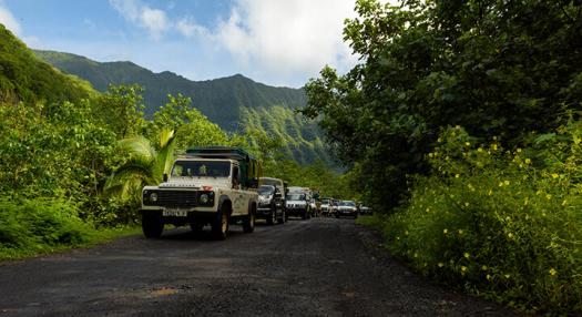 4WD excursion on Tahiti