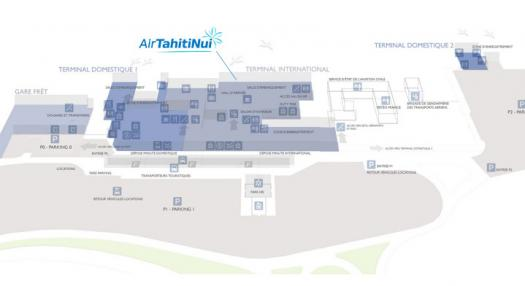 Map of Tahiti Faa'a International airport