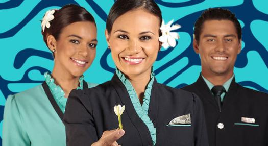 flight attendant with the spirit of air tahiti nui