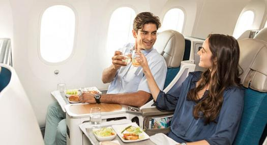 vin champagne poerava business air tahiti nui