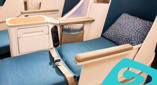 seats of the Air Tahiti Nui Poerava Business Class Cabin