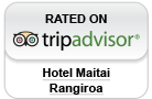 Hotel Maitai Rangiroa Rated on Trip Advisor